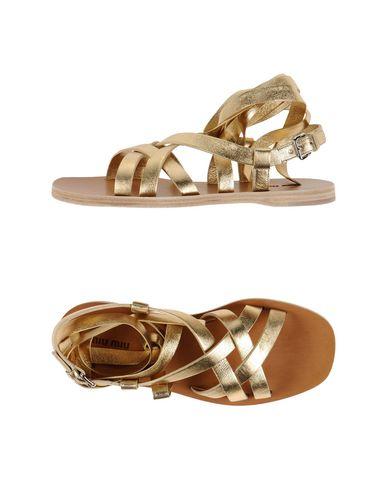 Miu Miu Sandals In Platinum