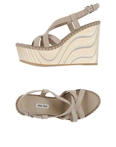Miu Miu Sandals In Light Grey