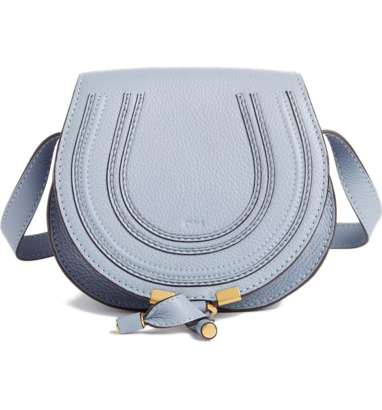 a1afae9ae05 ChloÉ Marcie Medium Round Leather Crossbody Bag In Royal Navy | ModeSens
