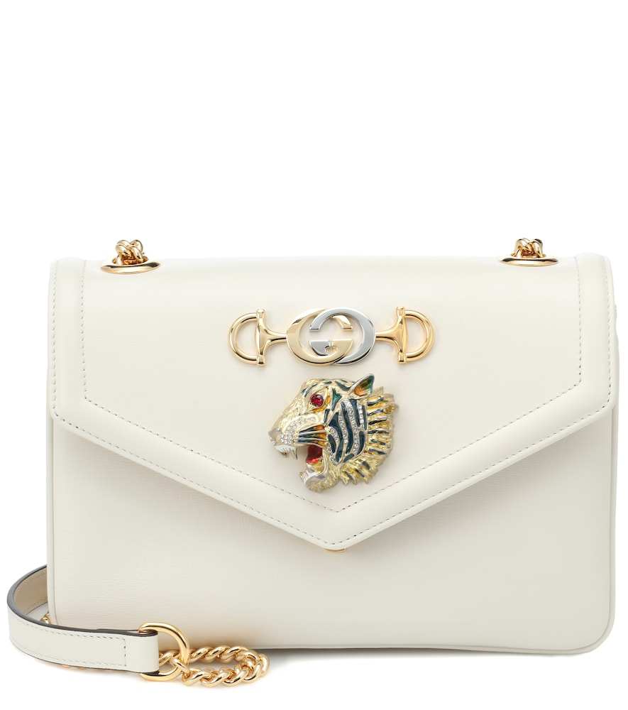 97d3c370cd26 Gucci Rajah Small Leather Shoulder Bag In White | ModeSens