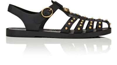6b326f2e78b0 Gucci Studded Gladiator Rubber Sandals