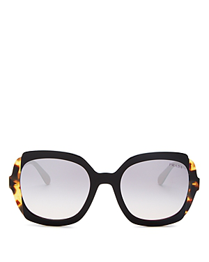 5be3b25f9e0b Prada Women's Eiquette Mirrored Square Sunglasses, 54Mm In Black Pink/Pink  Violet