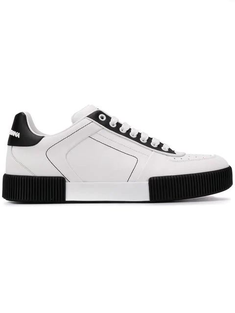 Dolce & Gabbana Leather Miami Low-Top Sneakers In White
