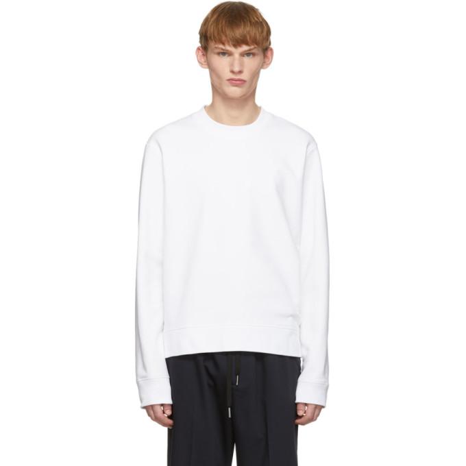 Joseph White Zip Sweatshirt In 0020 White