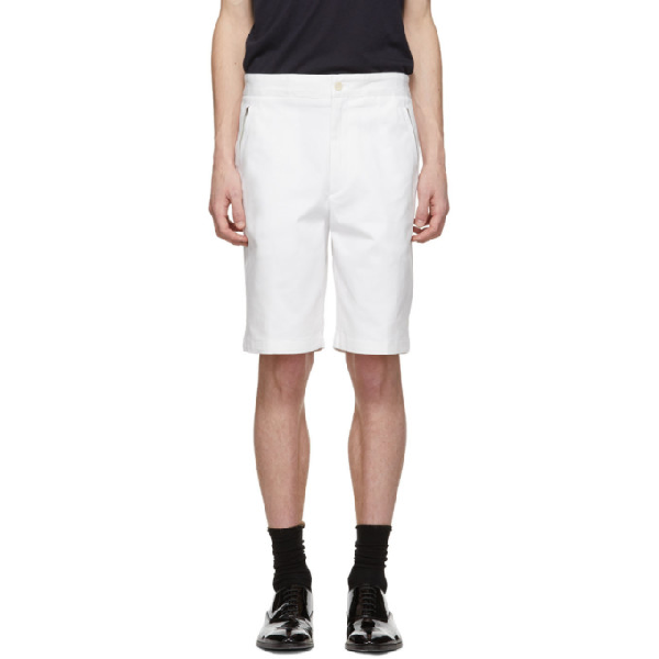 Joseph White Stretch Cotton Drill Pins Shorts In 0021 Off Wt