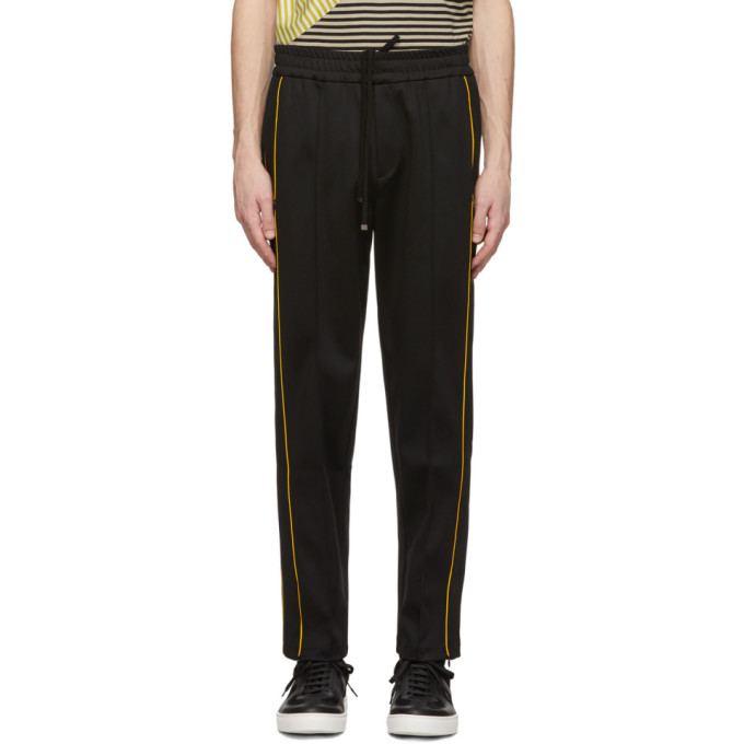 Joseph Black Jersey Track Pants In 0010 Black