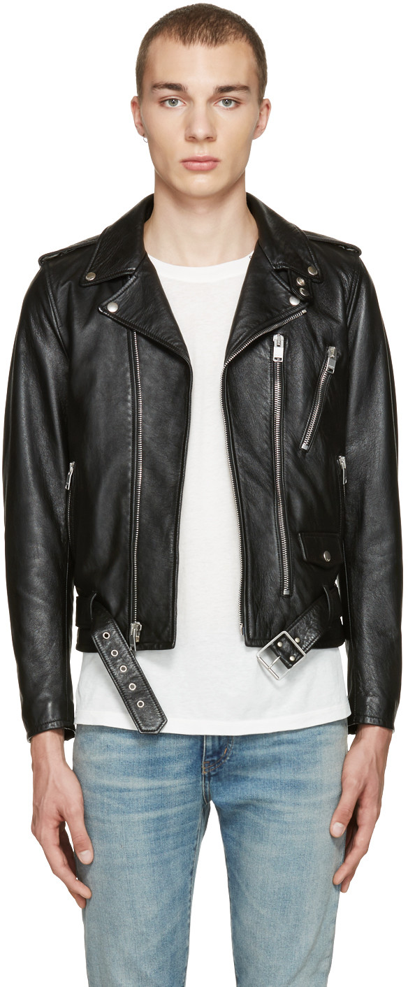 9903e72d14e Saint Laurent Black Leather Blood Luster L01 Jacket | ModeSens