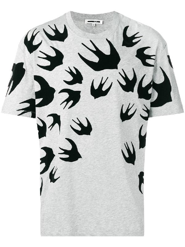 6714e9d08d9b8d Mcq By Alexander Mcqueen Mcq Alexander Mcqueen Swallow Swarm T-Shirt - Grey