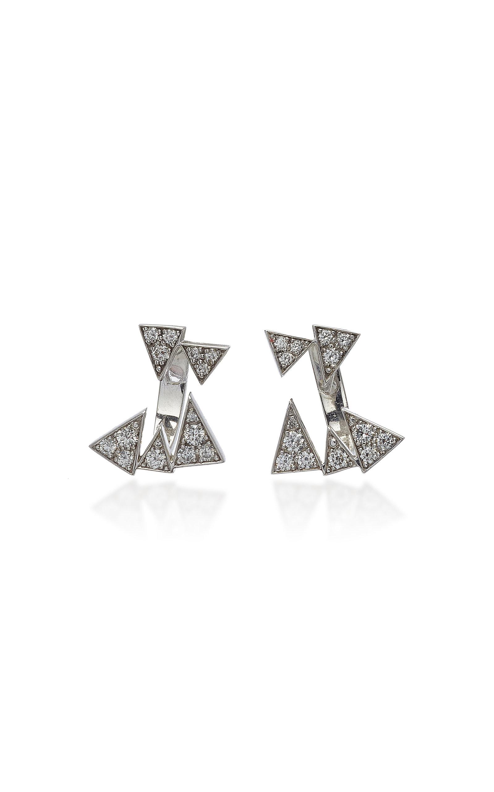 f8992fa7a Akillis Capture Me 18K Gold Diamond Earrings In White | ModeSens