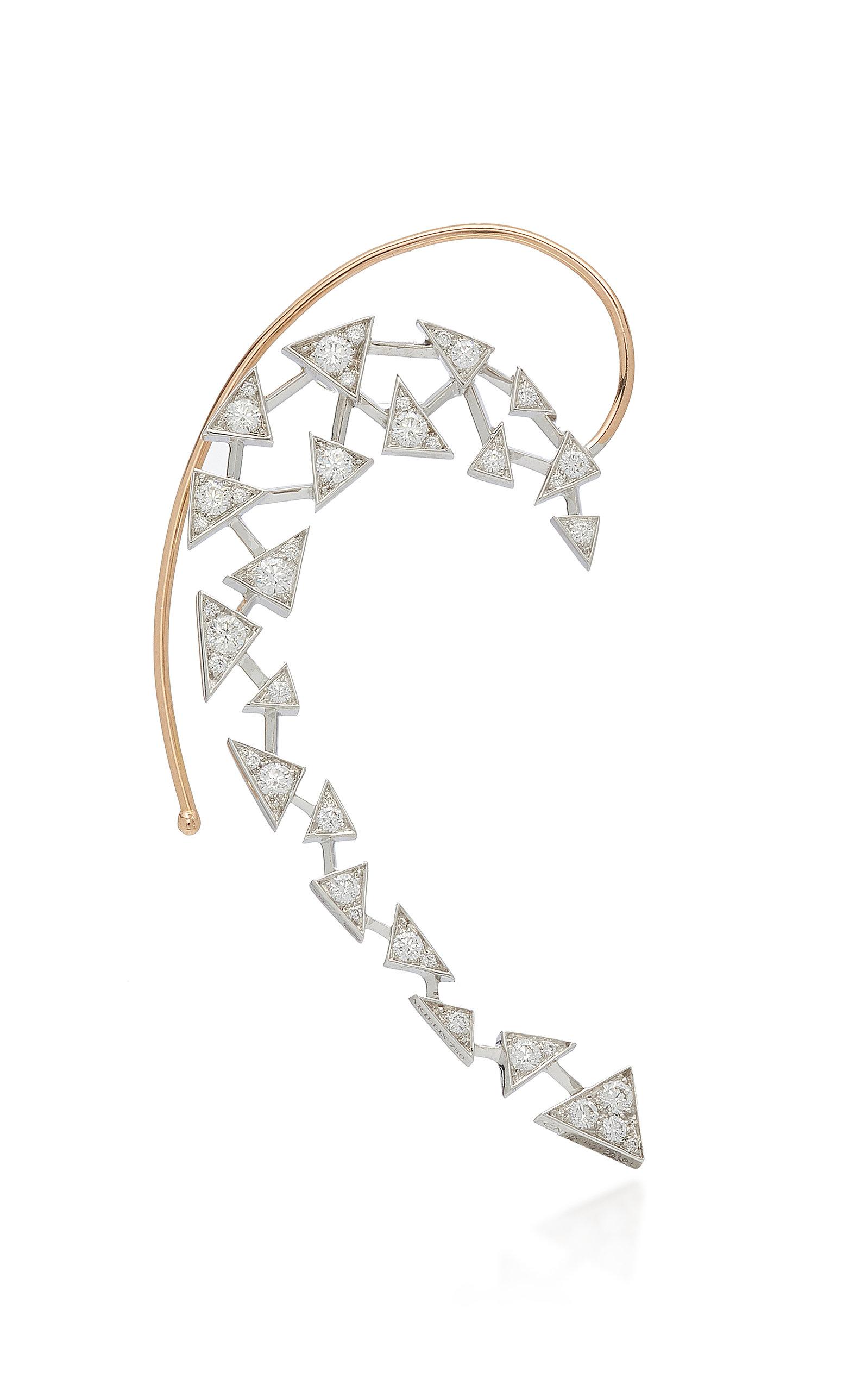 5fd0de6d8 Akillis Capture Me 18K Gold Diamond Ear Cuff In White | ModeSens