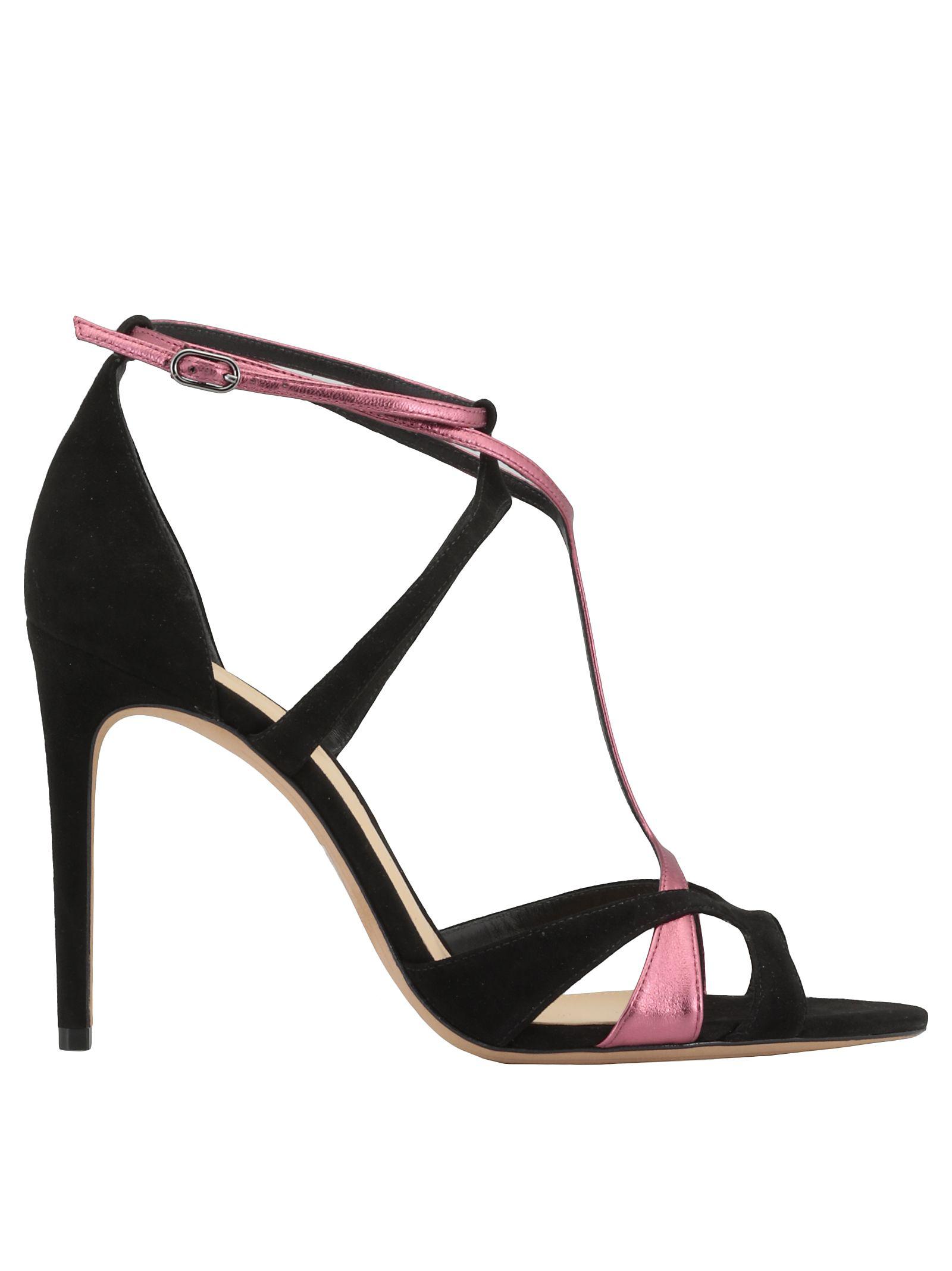 Alexandre Birman Anitta Sandal In Black/Blossom