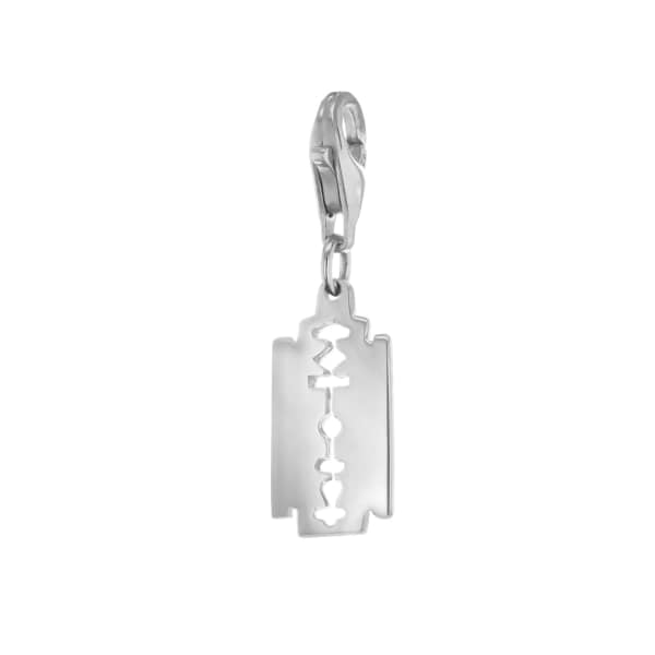 True Rocks Sterling Silver Small Razor Blade Charm