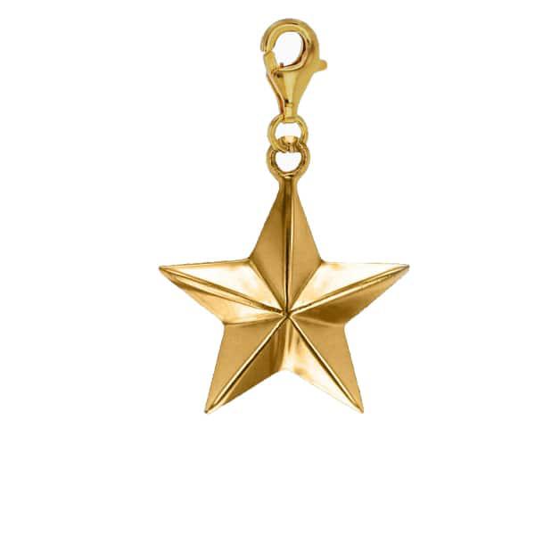 True Rocks 18ct Gold Plated Star Charm