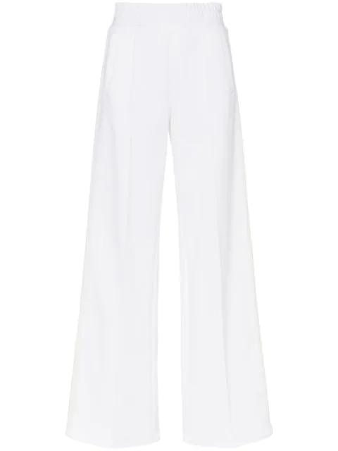 Off-white Wide Leg Side Stripe Track Pants Black In White