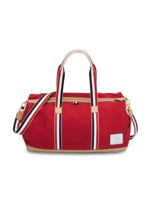 Thom Browne Removable Strap Gym Bag In Red
