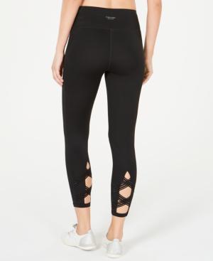 Calvin Klein Performance High-Waist Cropped Leggings In Raisin Combo