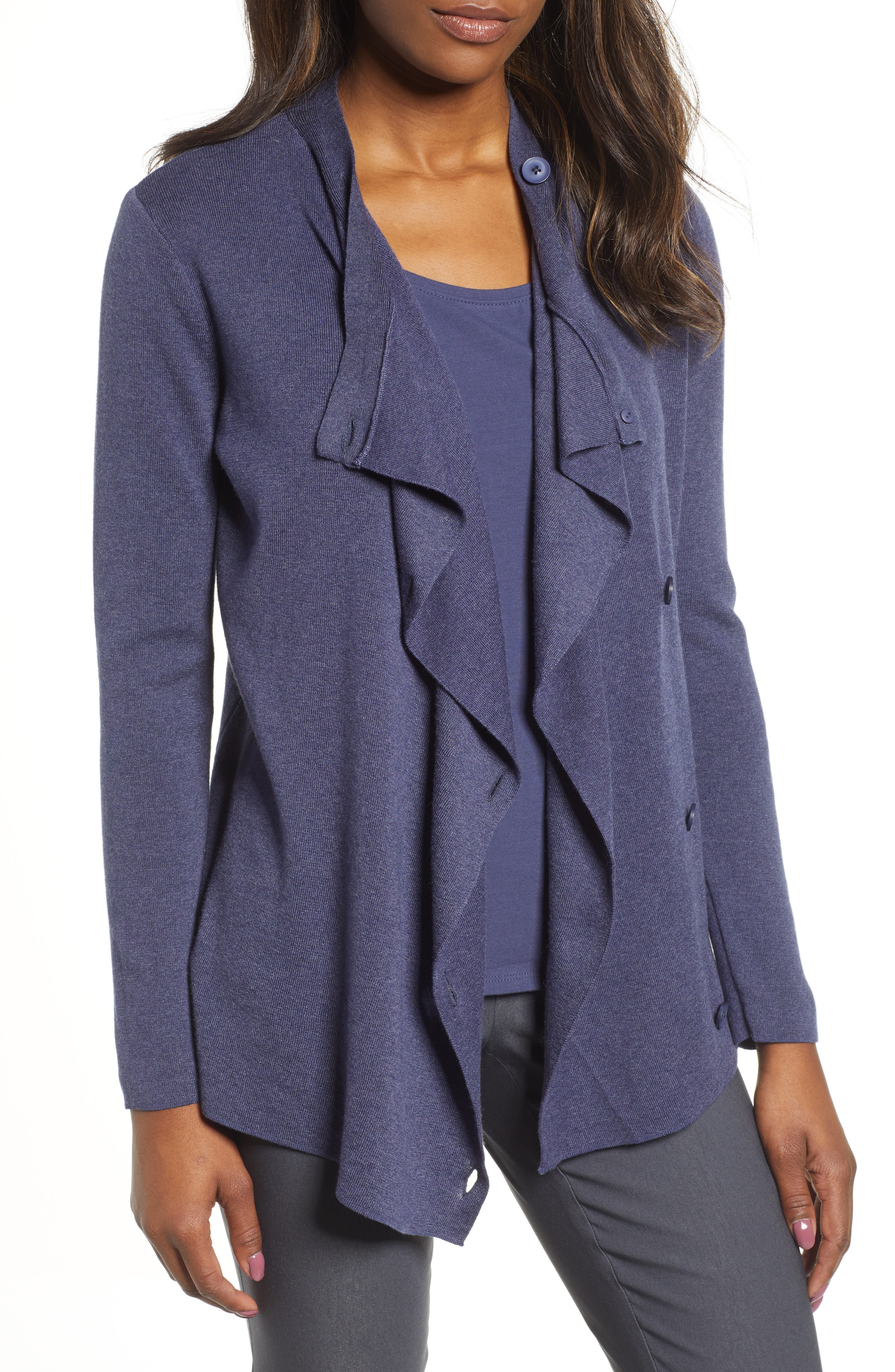 Nic + Zoe Open Or Close Cardigan In Navy
