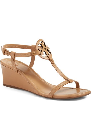 6155f4d42a1e Tory Burch Miller Logo 60Mm Wedge Sandals In Dusty Cypress