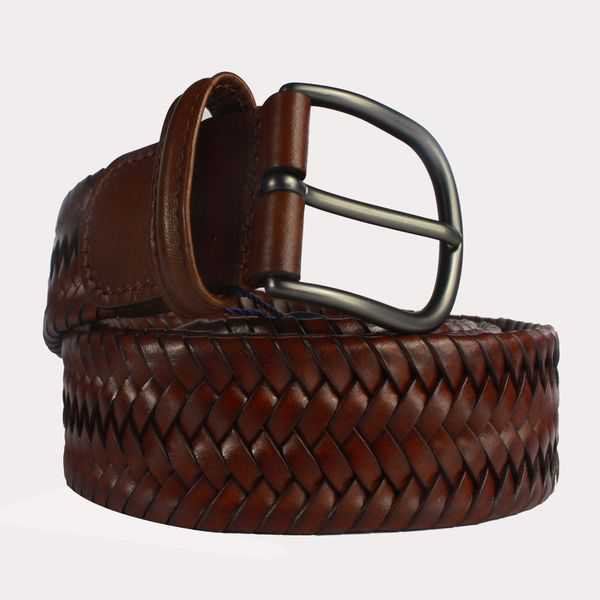 Anderson's Andersons Woven Leather Belt - Brown