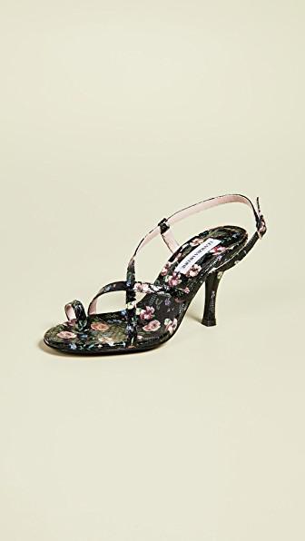 Leandra Medine High Strap Sandals In Black