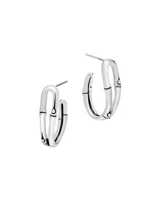 John Hardy Bamboo Silver Small Hoop Earrings