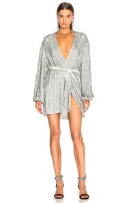 b28b23251026c RetrofÉTe Retrofete Gabrielle Robe Dress In Silver Sequin