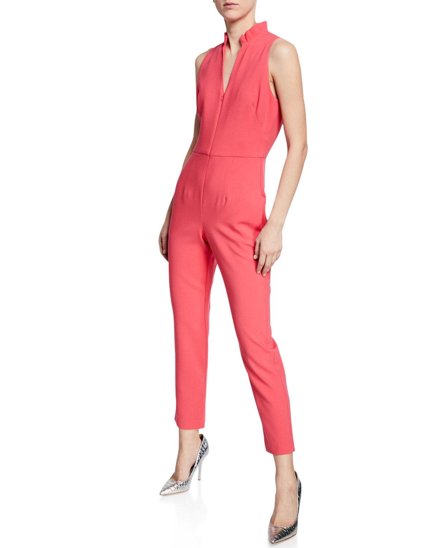 33c266b5724 Black Halo Antoinette Zip-Up Sleeveless Jumpsuit In Pink