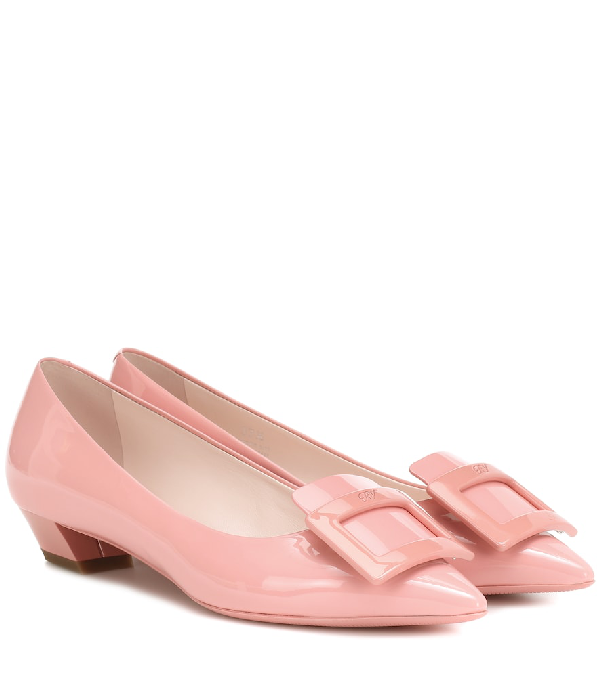 Roger Vivier Gommette Ball Leather Ballet Flats In Pink