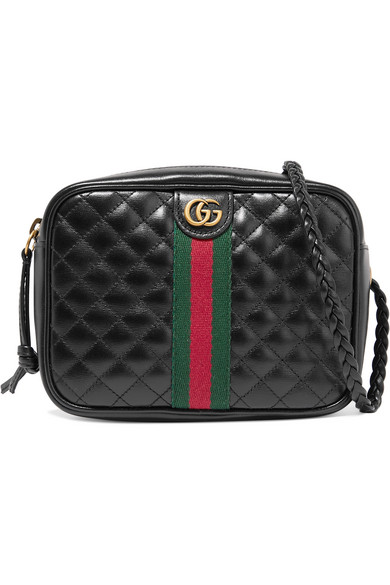 7a07fa34dc5 Gucci Mini Quilted Leather Shoulder Bag In Black