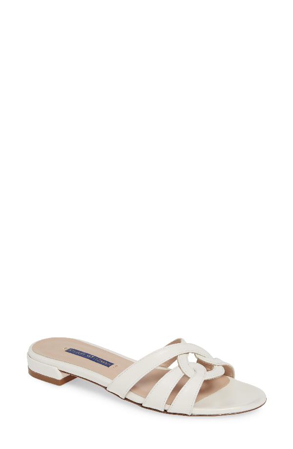 39a51c754fb6 Stuart Weitzman Cami Looped Knot Sandals In Cream