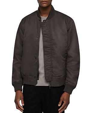 Allsaints Emmis Bomber Jacket In Graphite Gray
