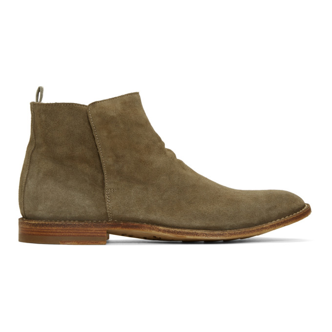 Officine Creative Taupe Standard 19 Chelsea Boots In Softy Taupe