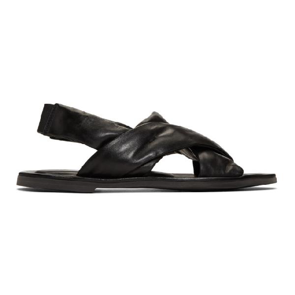 Officine Creative Black Achiles 2 Laboratorio Sandals In Nero