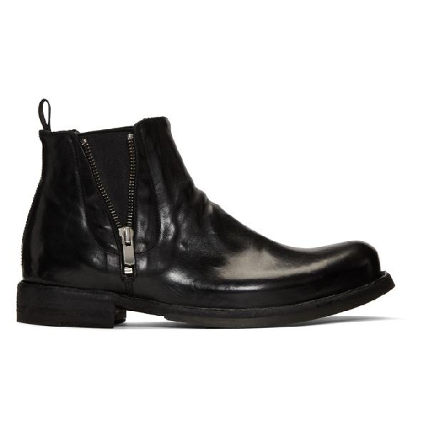 Officine Creative Black Ikon 39 Chelsea Boots In Nero