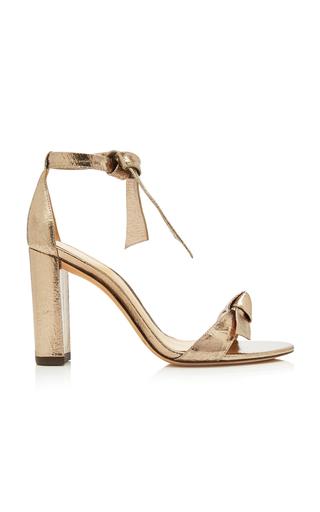 Alexandre Birman Clarita Leather Sandal In Gold