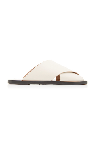 Atp Atelier Alicia Leather Sandals In White