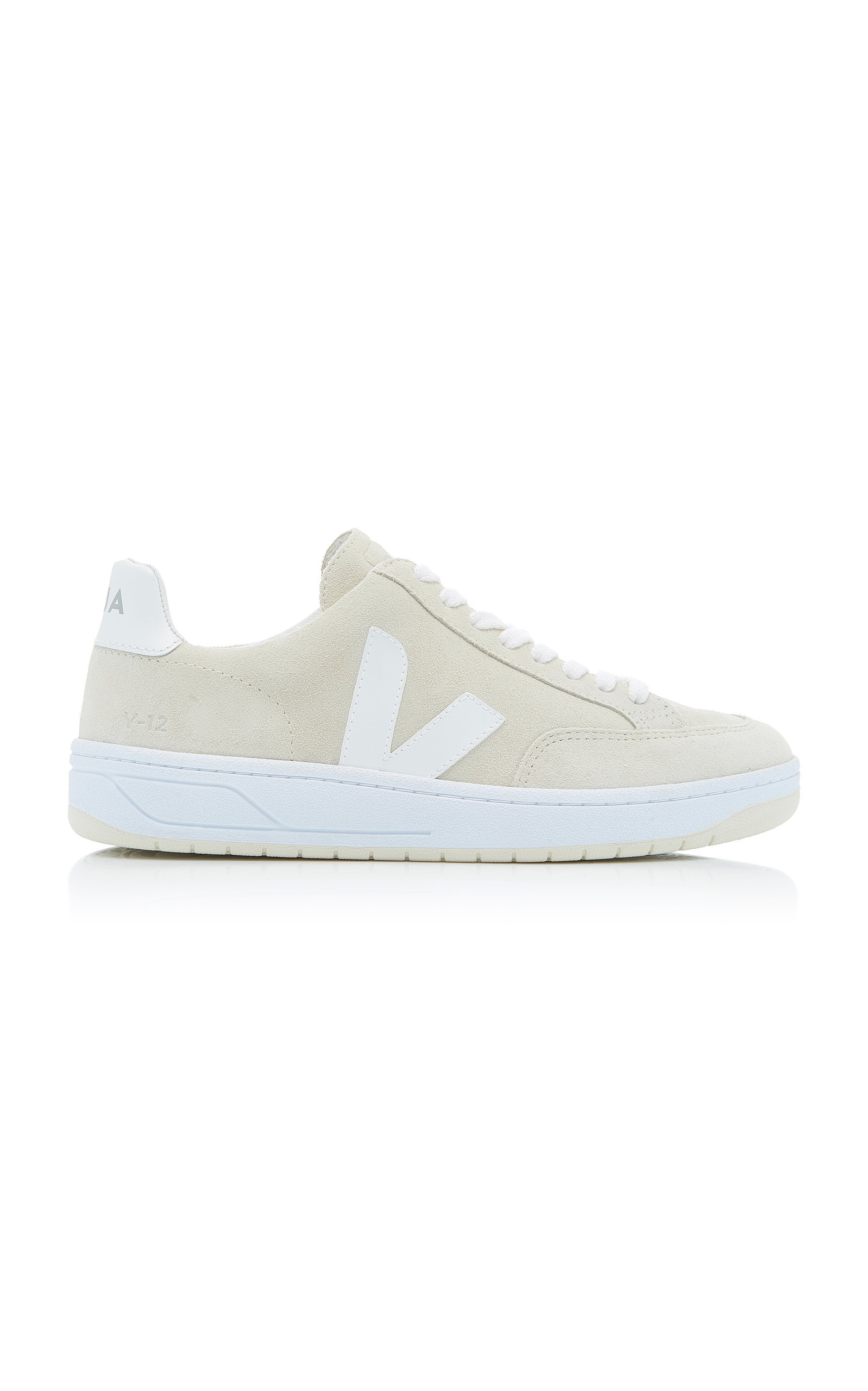 Veja Bastille Two-Tone Leather Sneakers In Neutral