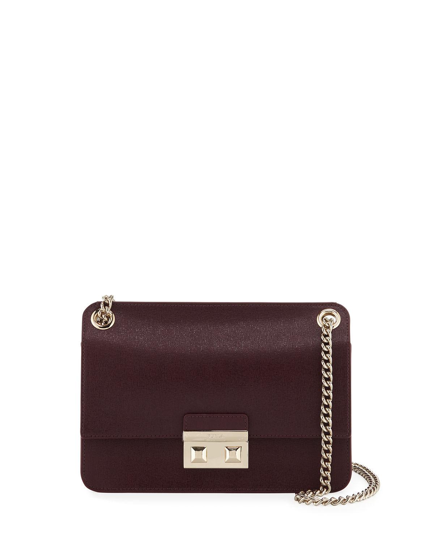c7d1da4855 Furla Bella Small Saffiano Leather Crossbody Bag In Barolo