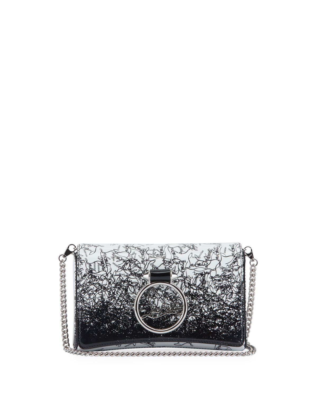 0467e647b4 Christian Louboutin Rubylou Patent Clutch Bag In Black/White | ModeSens