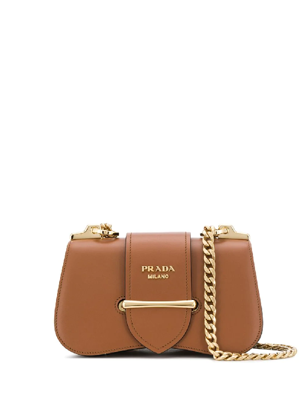 d4613b2e901452 Prada Sidonie City Calf Crossbody Bag In Brown