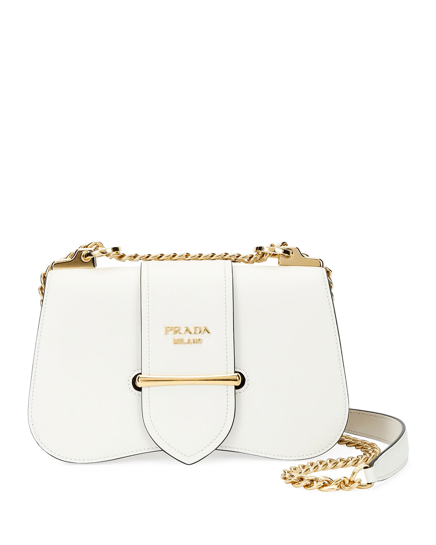 46197a39d Prada Sidonie City Calf Crossbody Bag In White | ModeSens