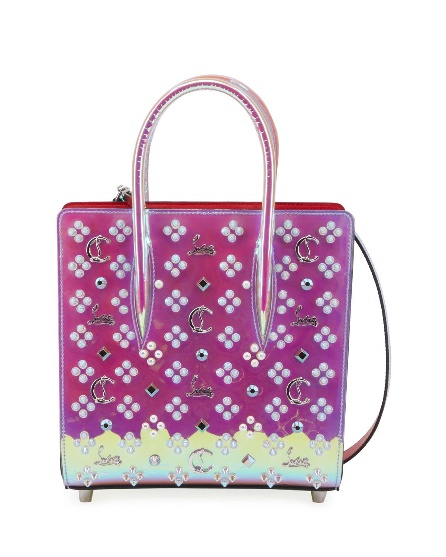 Christian Louboutin Paloma Small Iridescent Pvc Tote Bag In Multi