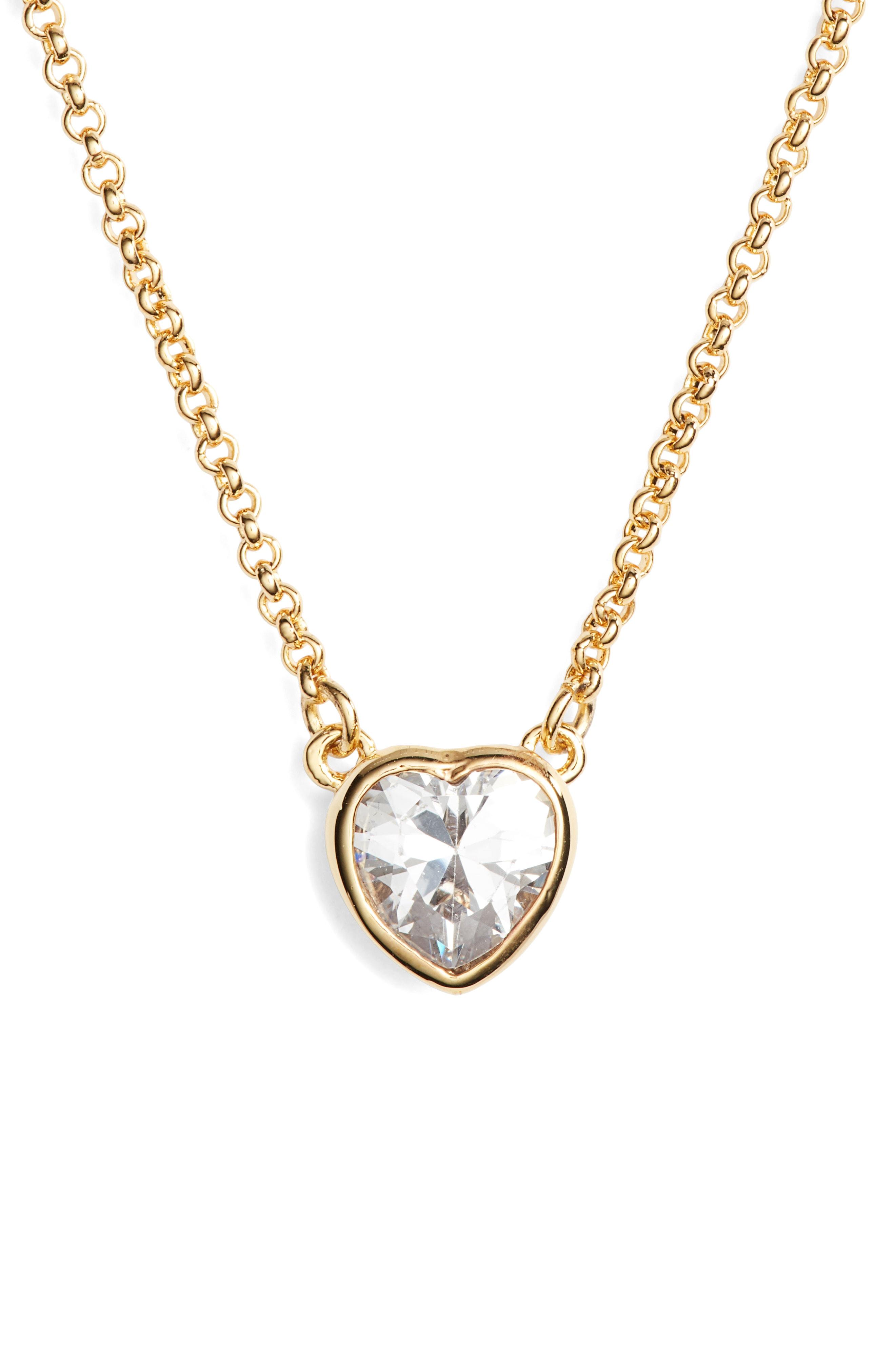 6e5aaf966ef70 Kate Spade Romantic Rocks Mini Pendant Necklace In Red | ModeSens