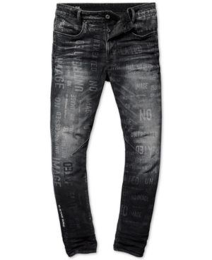 334f577481e G-Star Raw Men's D-Staq Straight Tapered Fit Printed Jeans In Medium Aged