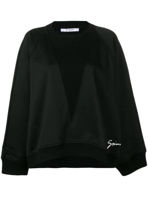 Givenchy Black Oversized Felpa Sweatshirt