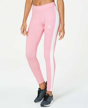 Puma Classics Logo T7 Leggings In Pale Pink
