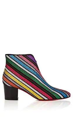 5866441ec266 Christian Louboutin Disco 70S Glitter-Striped Ankle Boots In Multi ...