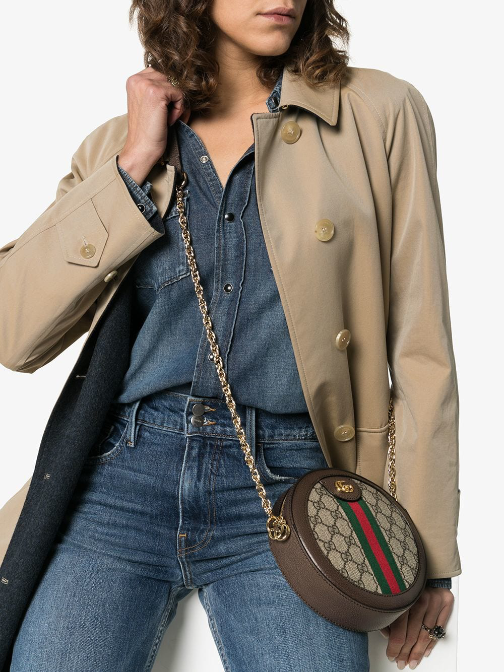 0aeda5f44e05bb Gucci Ophidia Mini Gg Round Shoulder Bag In Neutrals | ModeSens