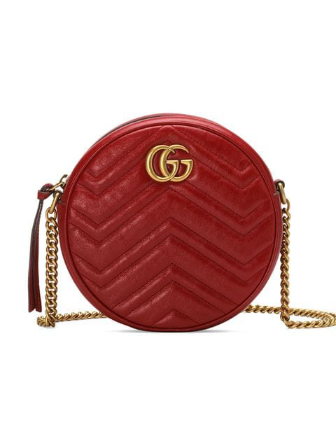 Gucci Mini Marmont 2.0 Leather Canteen Shoulder Bag - Red