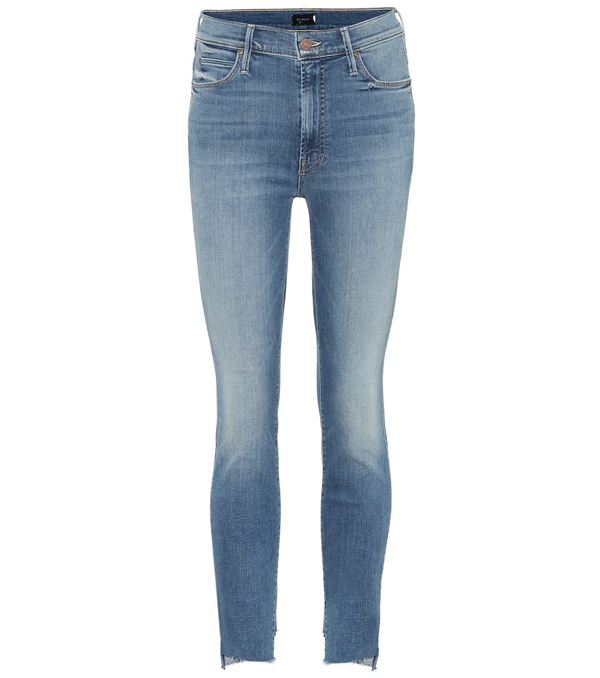 Mother The Stunner Cropped Mid-rise Skinny Jeans In Walking On Coals